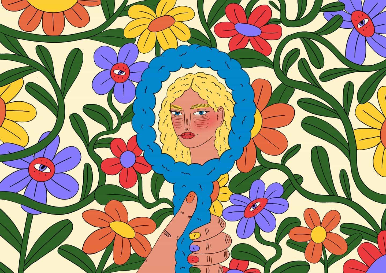 Ilustraciones de Doolittle (Eliza Williams): En el espejo (Copyright © Doolittle Illustrations, noviembre de 2020)