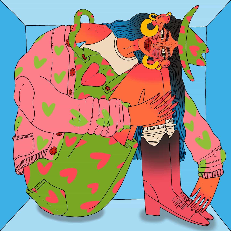 Doolittle Illustrations (Eliza Williams): Stuck in a box (Copyright © Doolittle Illustrations, mayo de 2021)