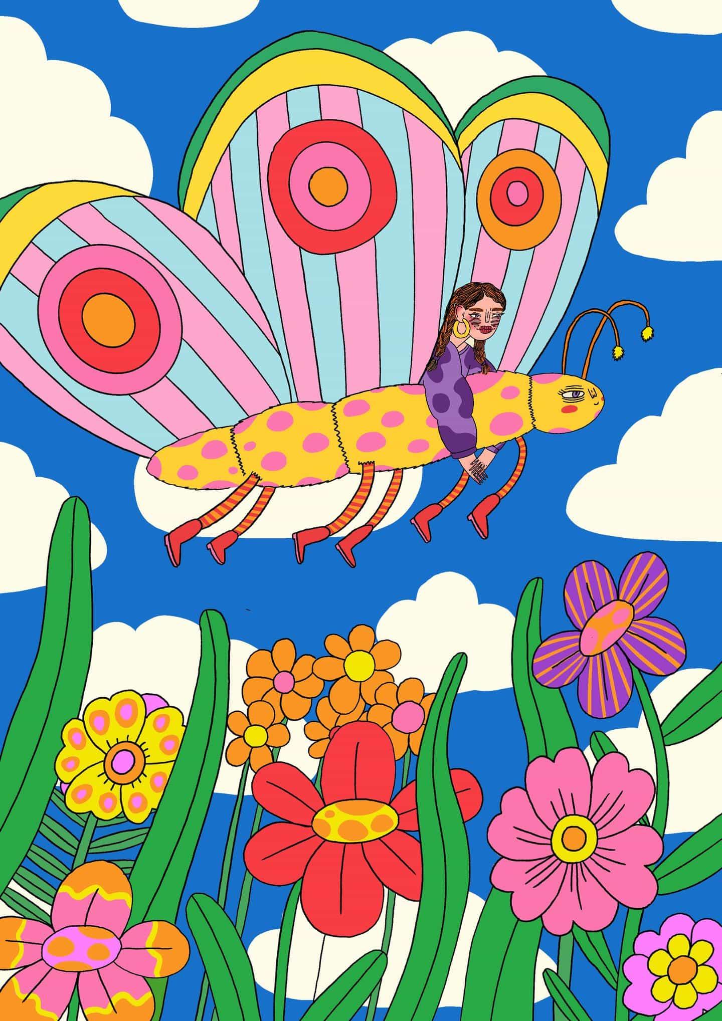 Ilustraciones de Doolittle (Eliza Williams): Butterfly pal (Copyright © Doolittle Illustrations, noviembre de 2020)