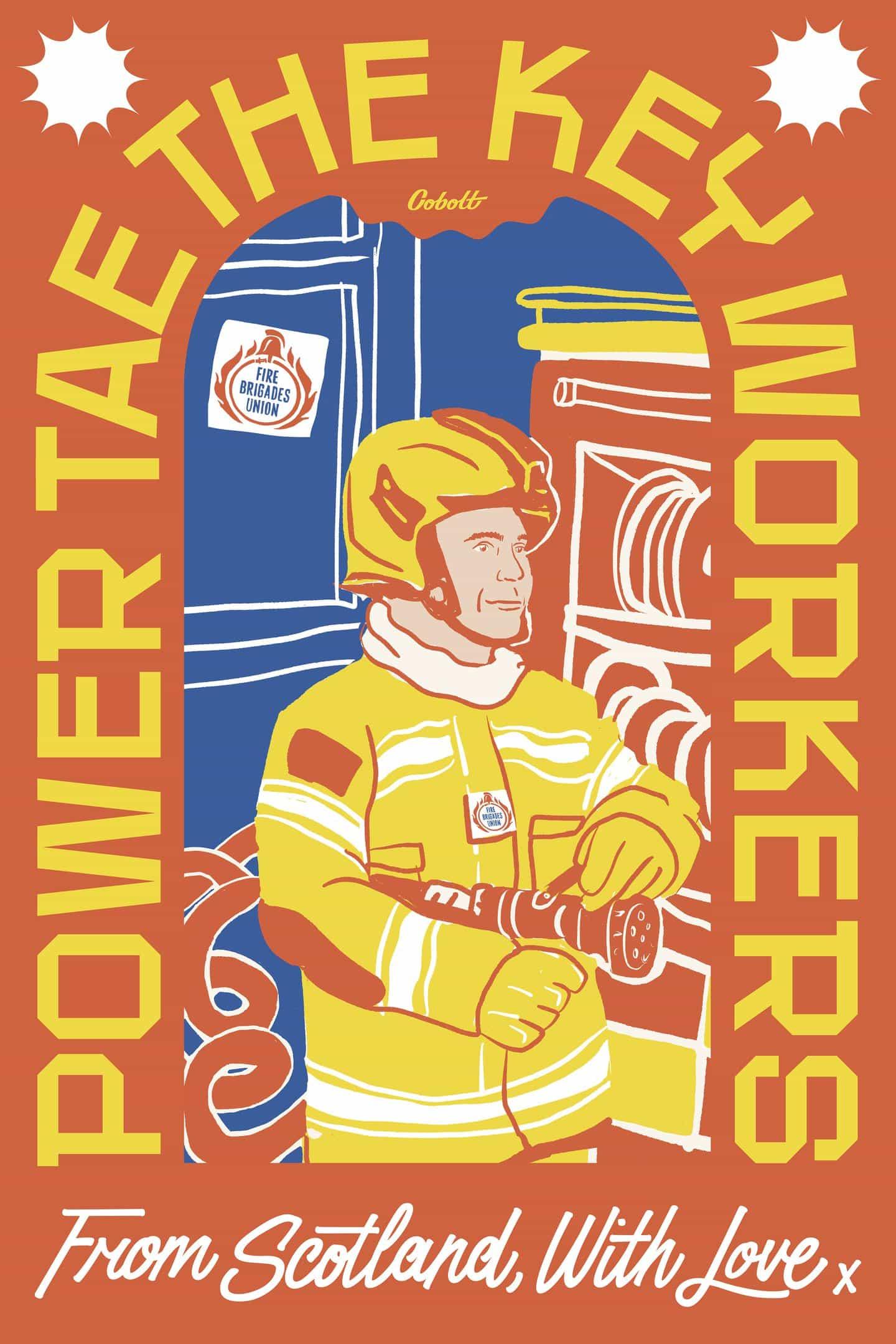 """""""Power TAE los trabajadores clave"""": Cobolt inyecta Collective las calles de Glasgow con la esperanza, el color y la positividad"""