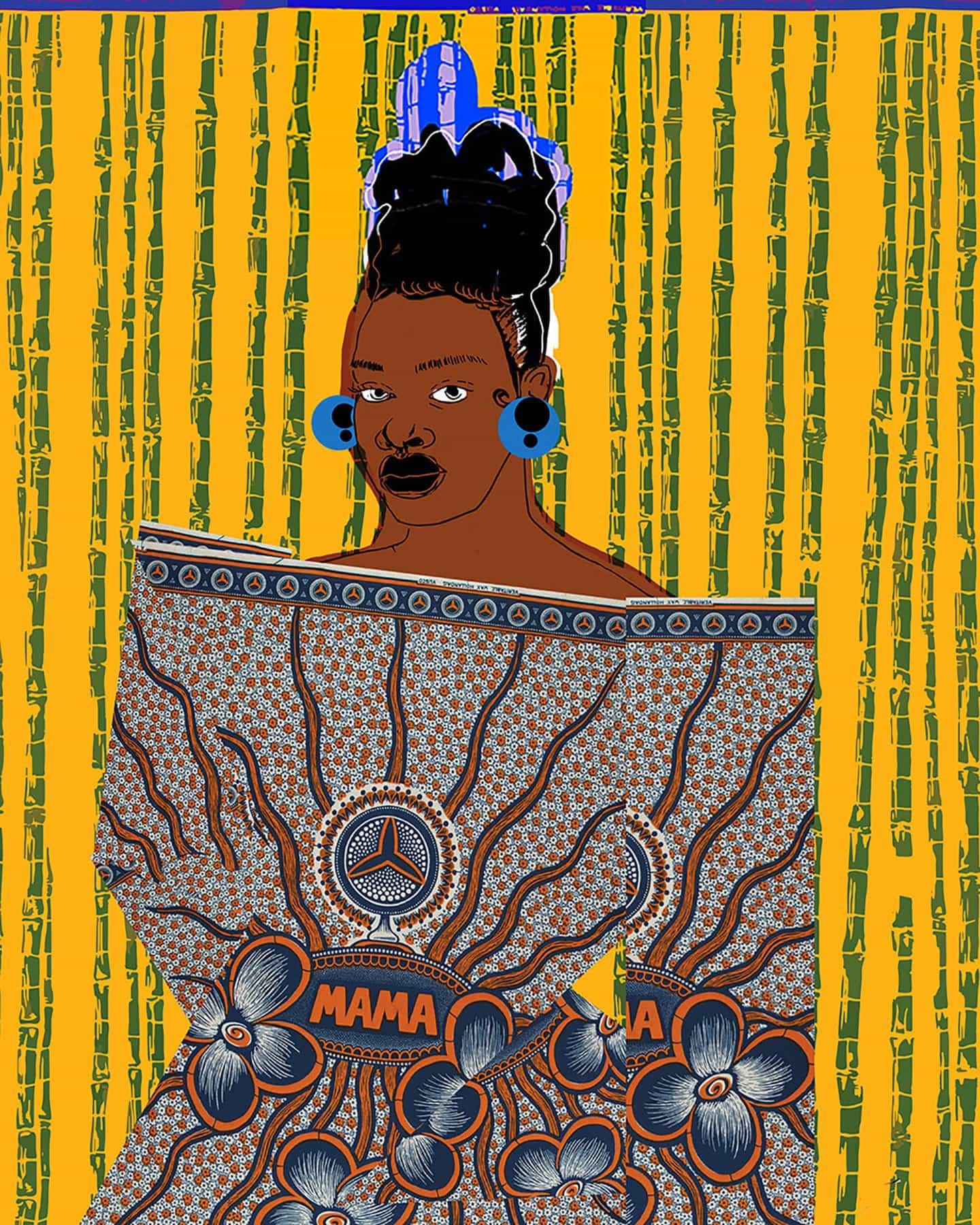 Ngadi Smart: Ilustraciones de moda marfileñas, para Vlisco&Co (Copyright © Ngadi Smart, 2021)