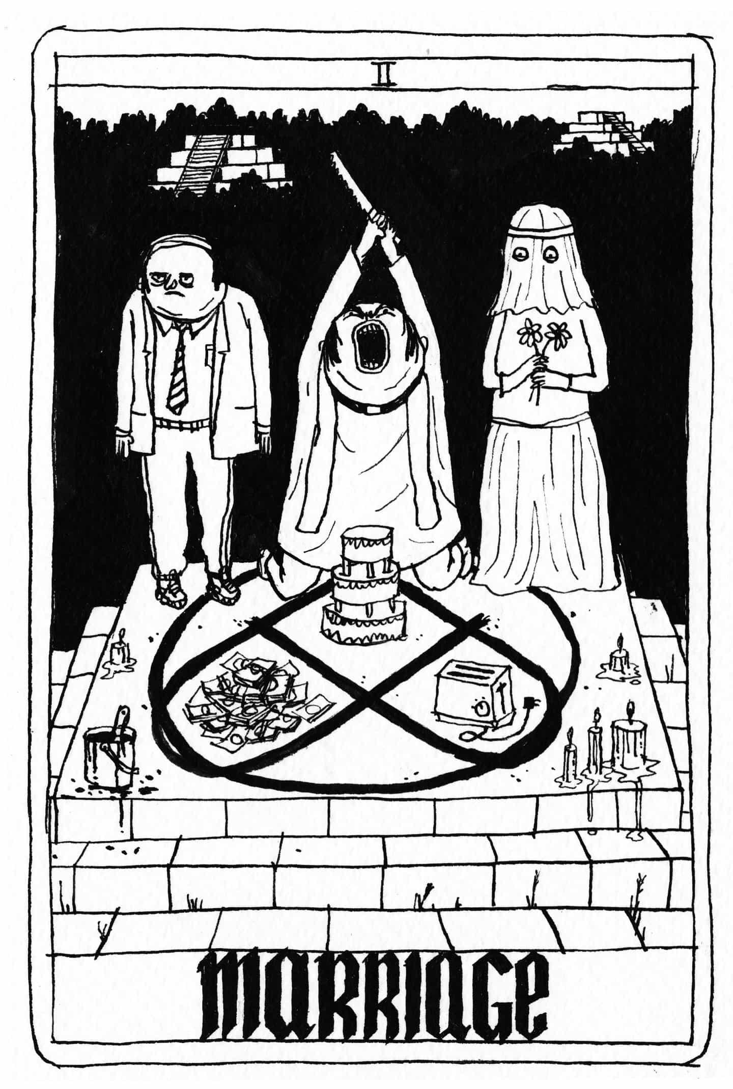 Presionado carta cubierta Ha para Father John Misty