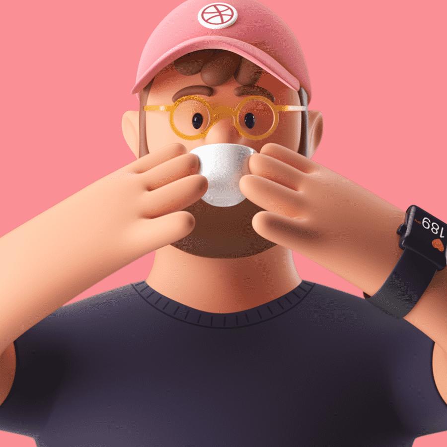 Ilustraciones 3D marca de tono