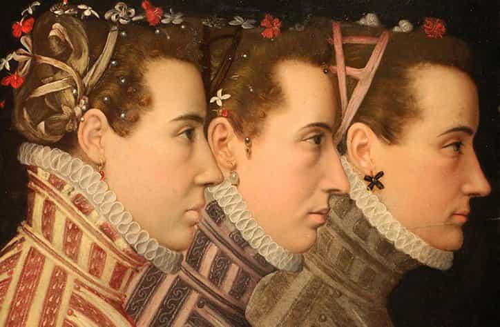 imagen de referencia: Triple Retrato de perfil, 1570 por Lucas De Heere