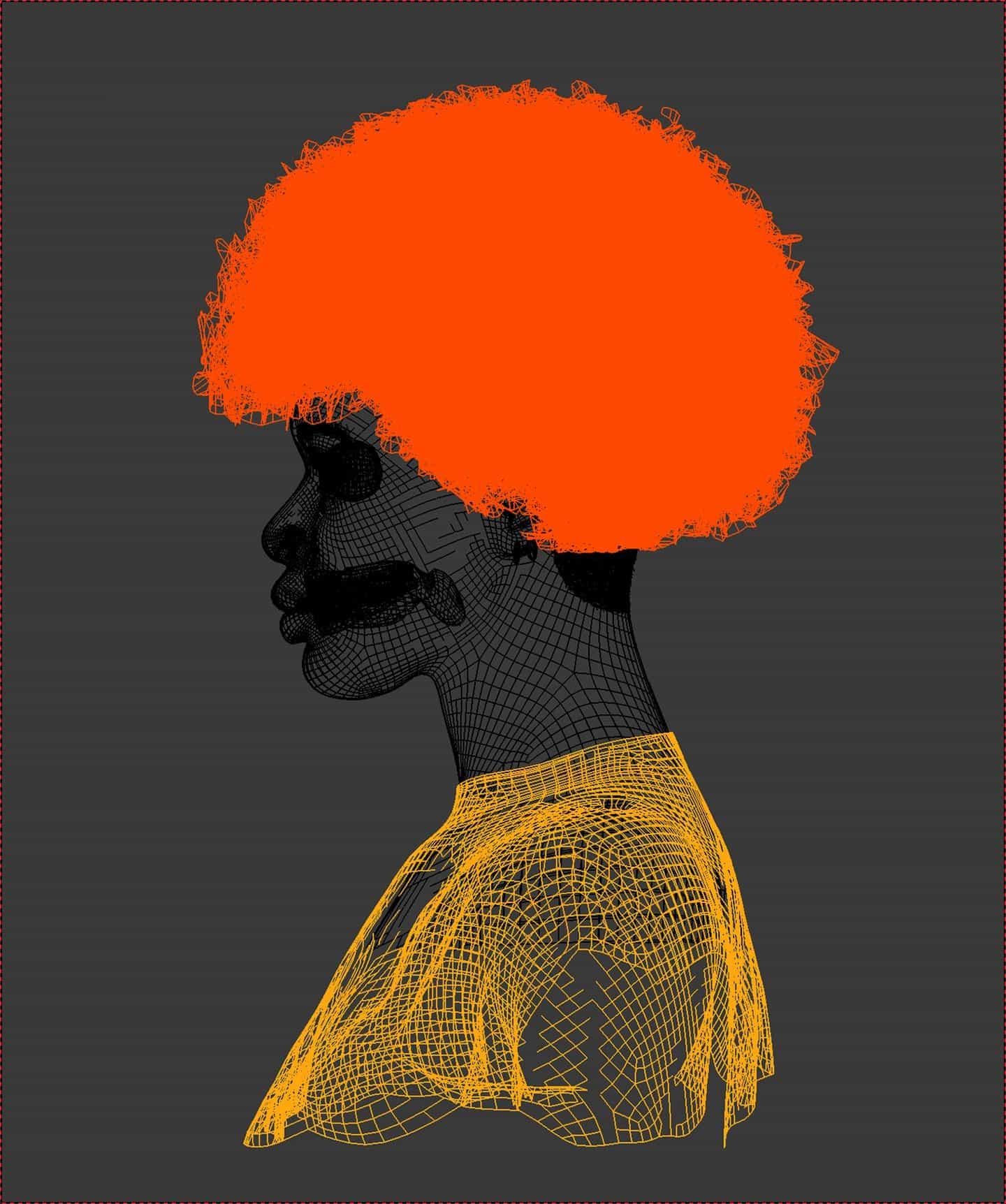 Trabajo en curso: Retrato de Joy Yamusangie