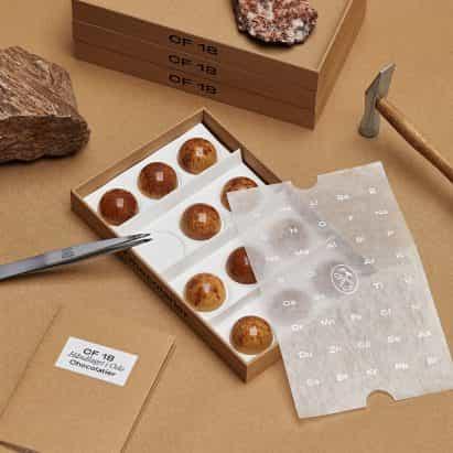 OlssønBarbieri hace que los envases de chocolate minimalista para CF18 Chocolatier