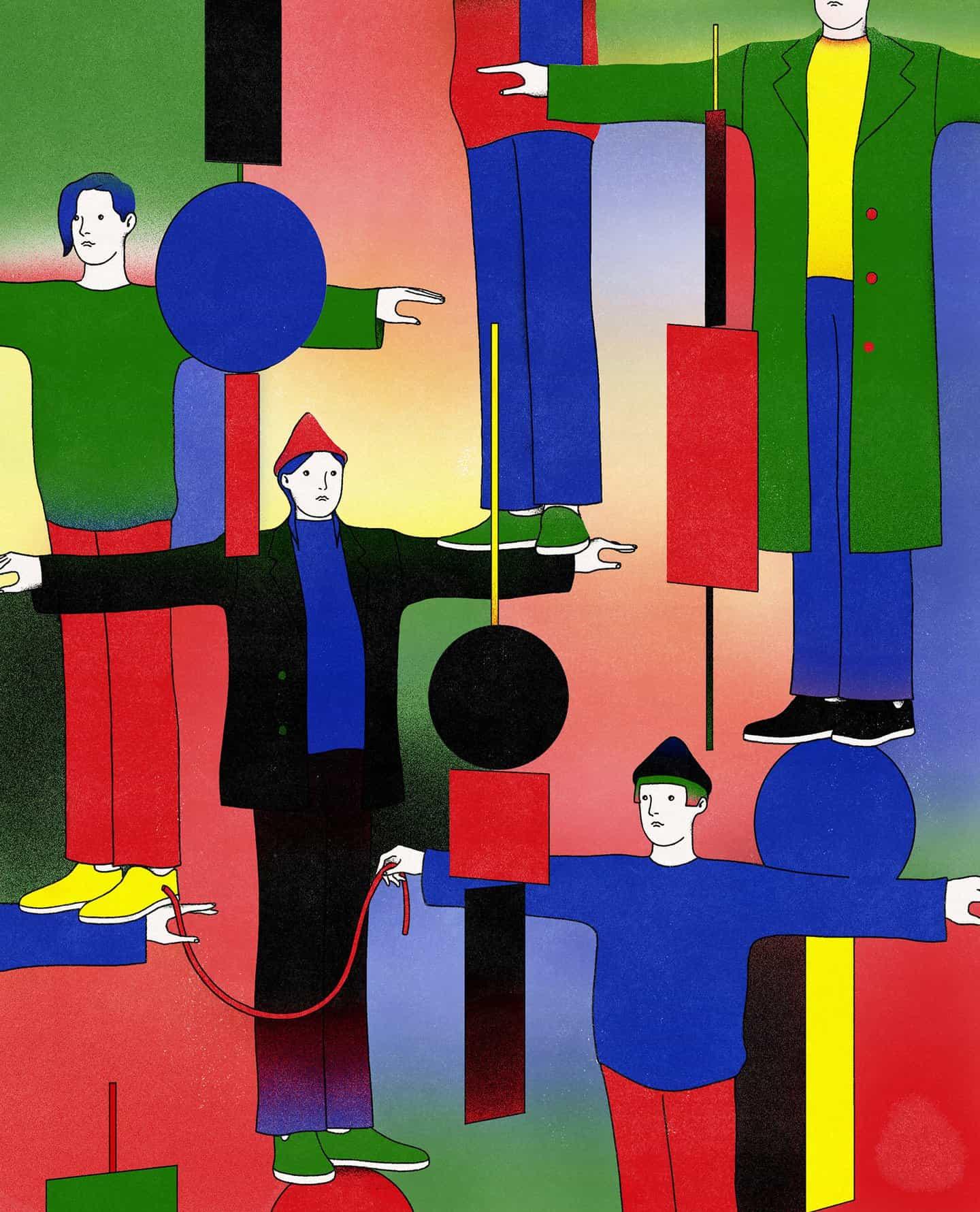 En sus ilustraciones, Younsik Woo representa la interconexión de todas las cosas