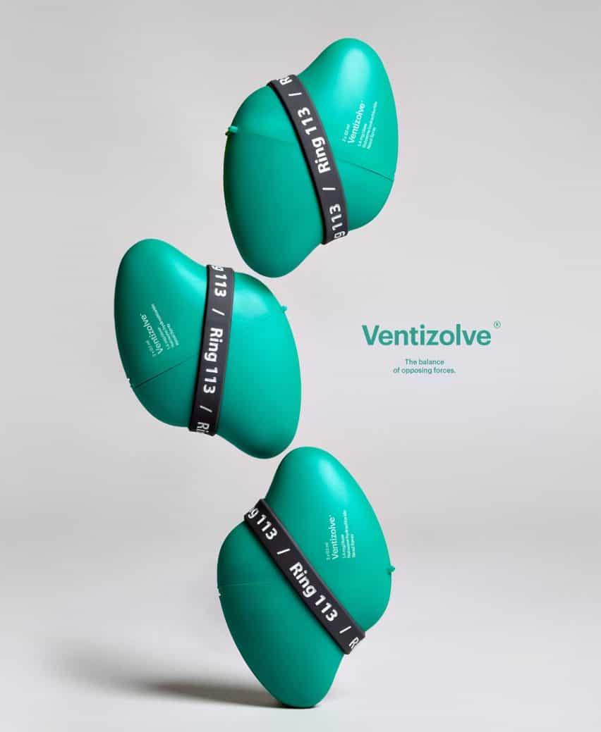 El kit naloxona Ventizolve por ANTI tiene una forma curvada
