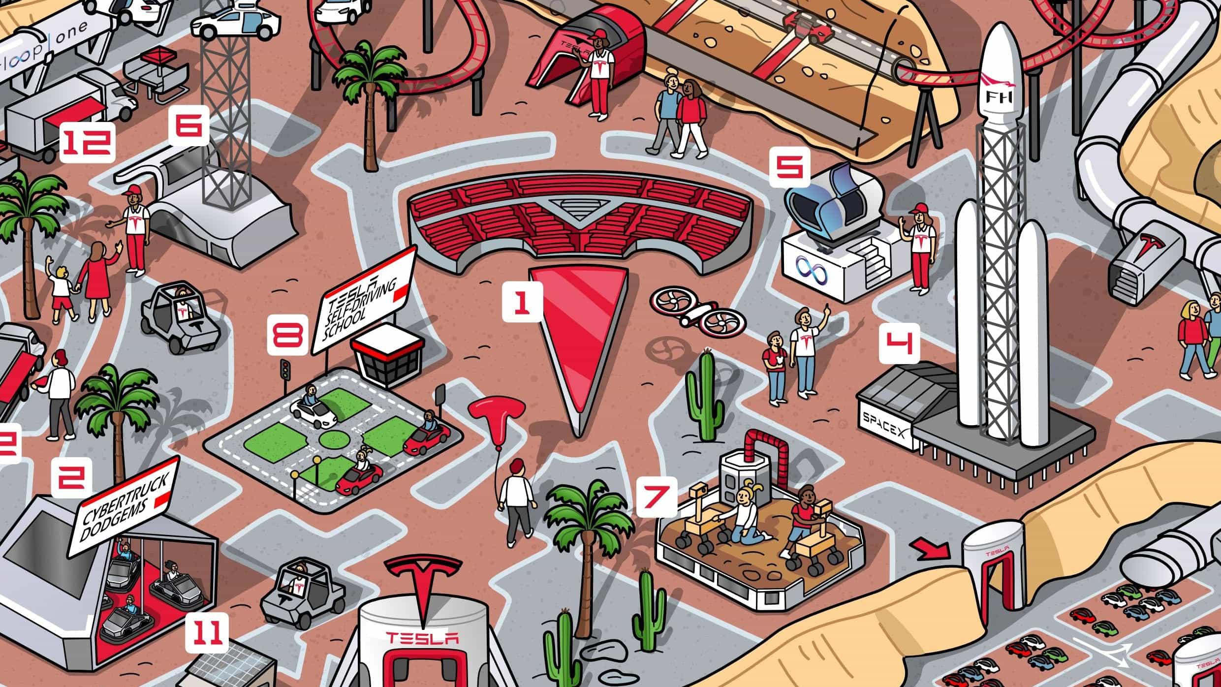 Este extraño concepto de parque temático de Tesla nos hace querer visitar
