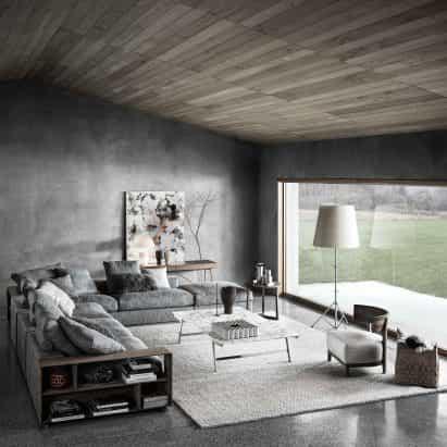 Flexform celebra el 20 aniversario del sofá Groundpiece de Antonio Citterio