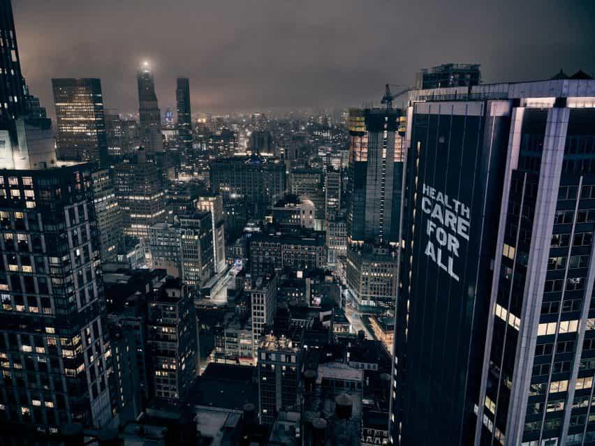 La protesta Iluminador Nueva York