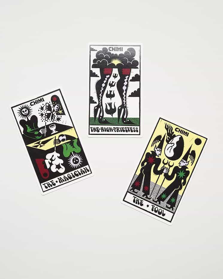 Sophy Hollington canaliza el ocultismo a través de ilustraciones de cartas del Tarot para las nuevas gafas de sol de Chimi