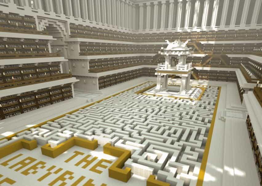 Una habitación en The Uncensored Library con piso monocromático