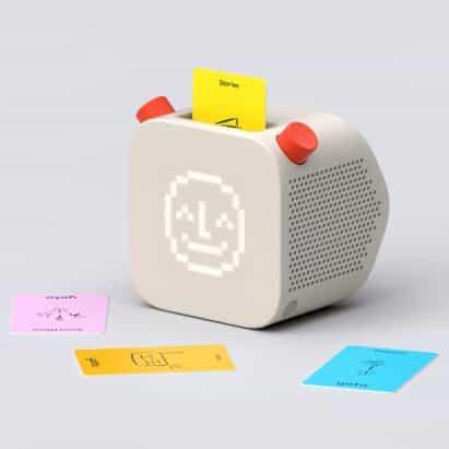reproductor de audio pentagrama y Yoto libre de pantalla de diseño para los niños