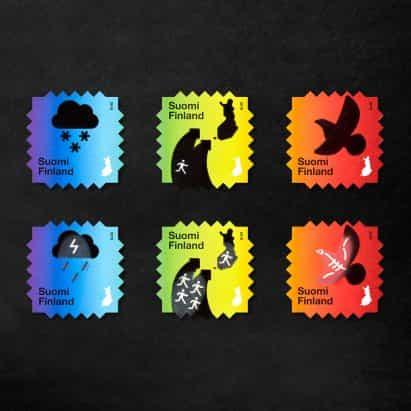 Berry creativo diseña Cambio Climático sellos con tinta reactiva con el calor