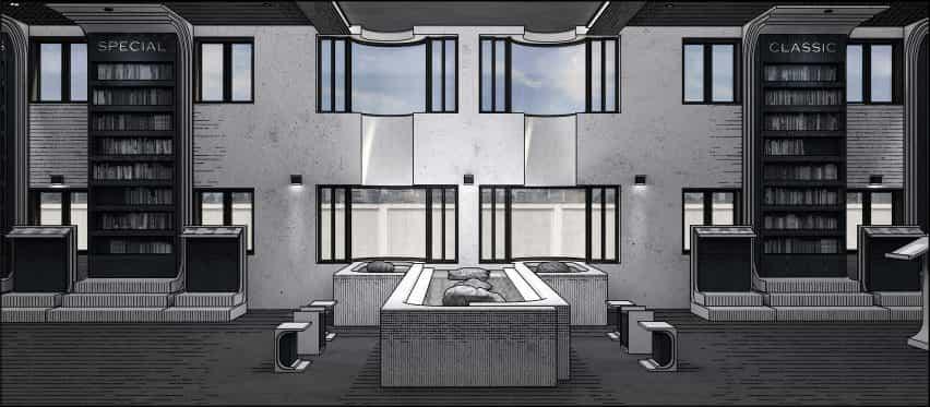 Un archivo visual de Moleskine: Moleskine espacio Branding de Haim Jung de la Universidad Hongik