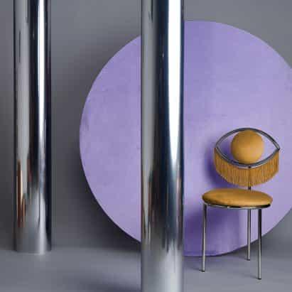 Guiño de la silla Masquespacio está diseñado para parecerse a un ojo