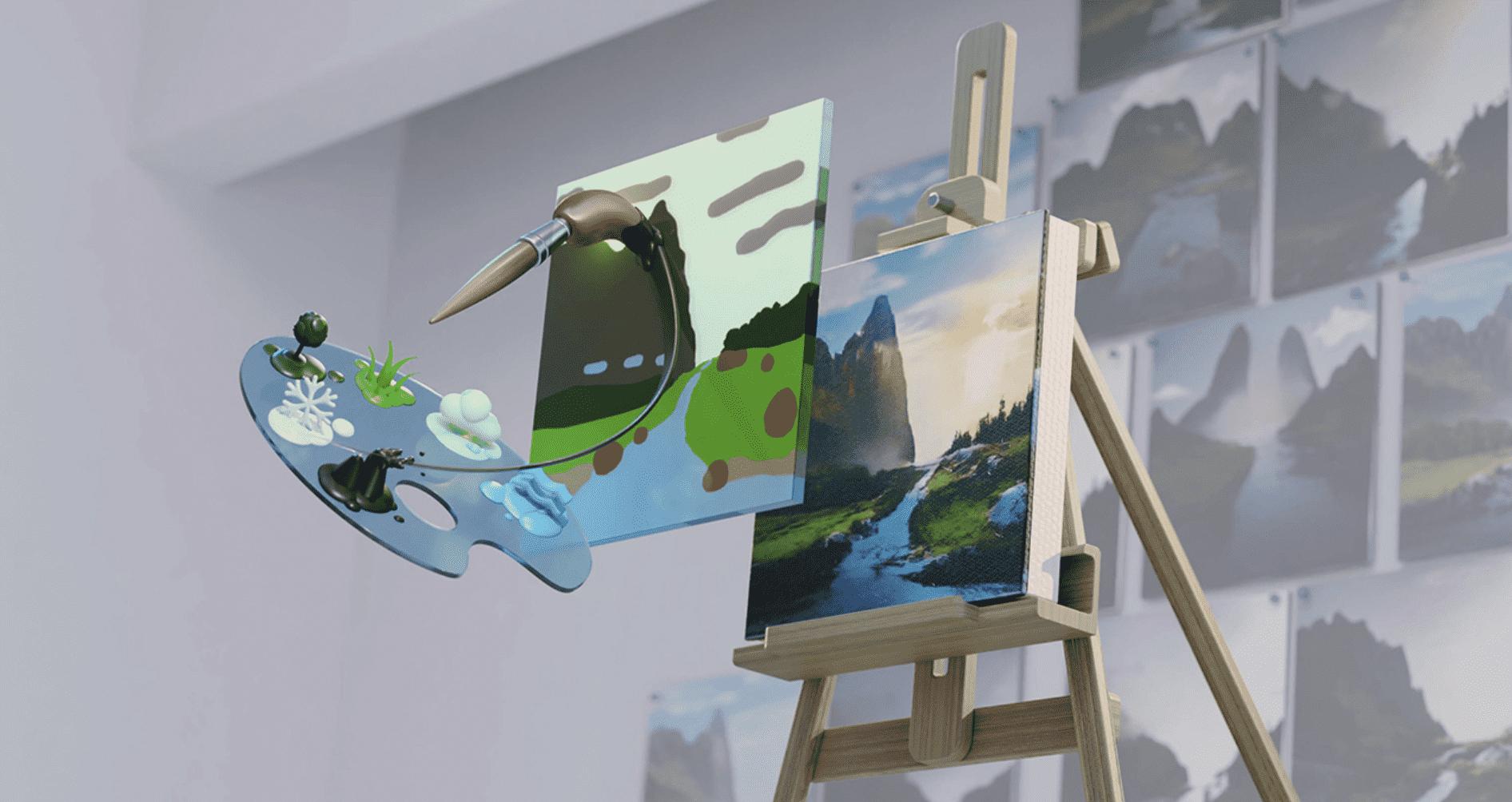 La nueva y alucinante aplicación Canvas de Nvidia convierte tus garabatos en obras maestras