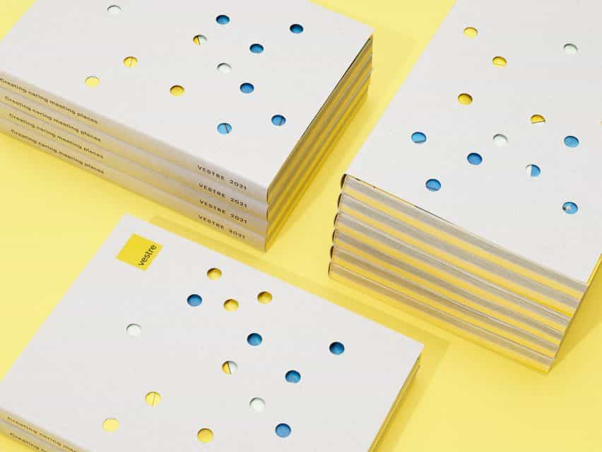Catálogo Vestre 2021 impreso en papel certificado FSC con recortes redondos