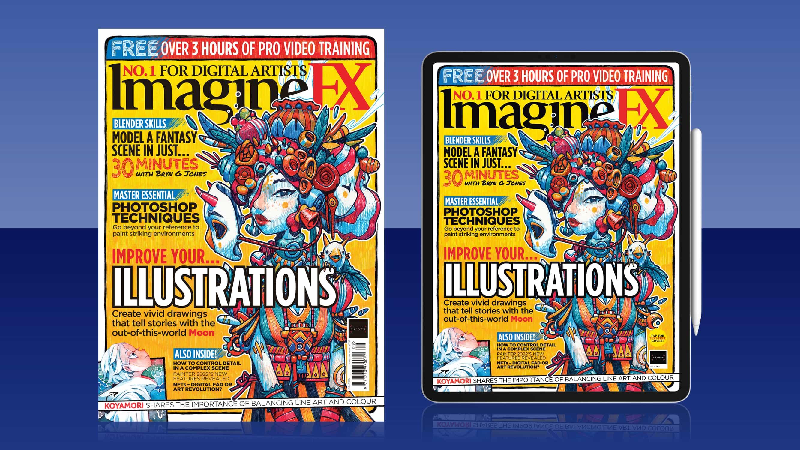 Mejore el dibujo con la edición de ilustraciones de ImagineFX