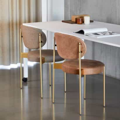 muebles de Verner Panton facilita la transición a trabajar desde casa