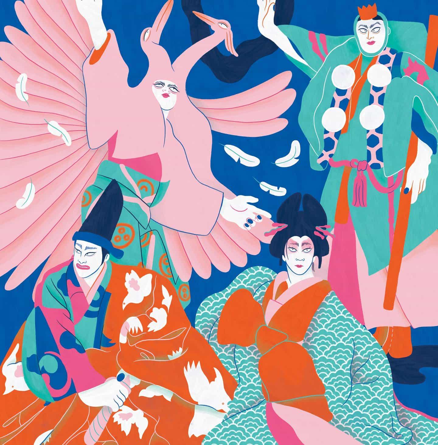 Kabuki del arte de arrastre