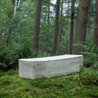 "Bob Hendrikx diseña ""ataúd de estar"" de hongo micelio"
