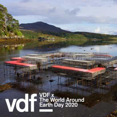 Kunle Adeyemi, Nelly Ben Hayoun y Cameron Sinclair característica en colaboración de VDF con el mundo alrededor de Día de la Tierra