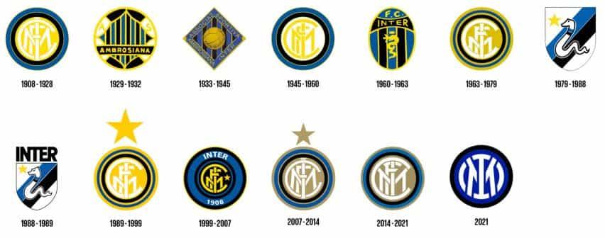 Evolución de la cresta del Inter de Milán