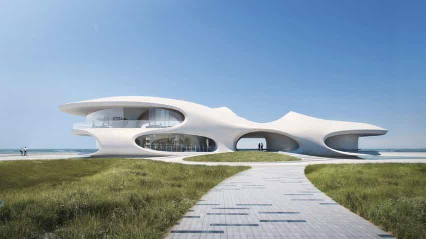 MAD reveló su diseño para una biblioteca en la ciudad china de Haikou