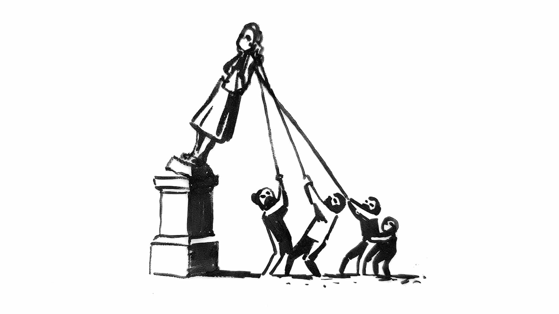 Banksy revela brillante plan para de Bristol Colston derribado la estatua