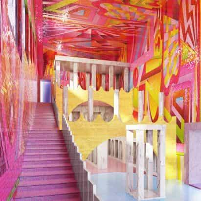 "movimiento del diseño colorido ""New London Fabuloso"" es un reto minimalismo, dice Adam Nathaniel Furman"