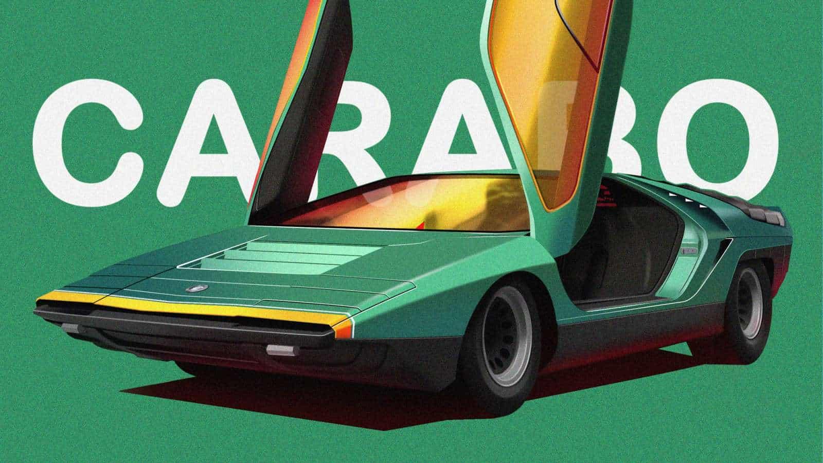 Serie de la ilustración de los más emblemáticos, los coches inusuales y memorables de la historia