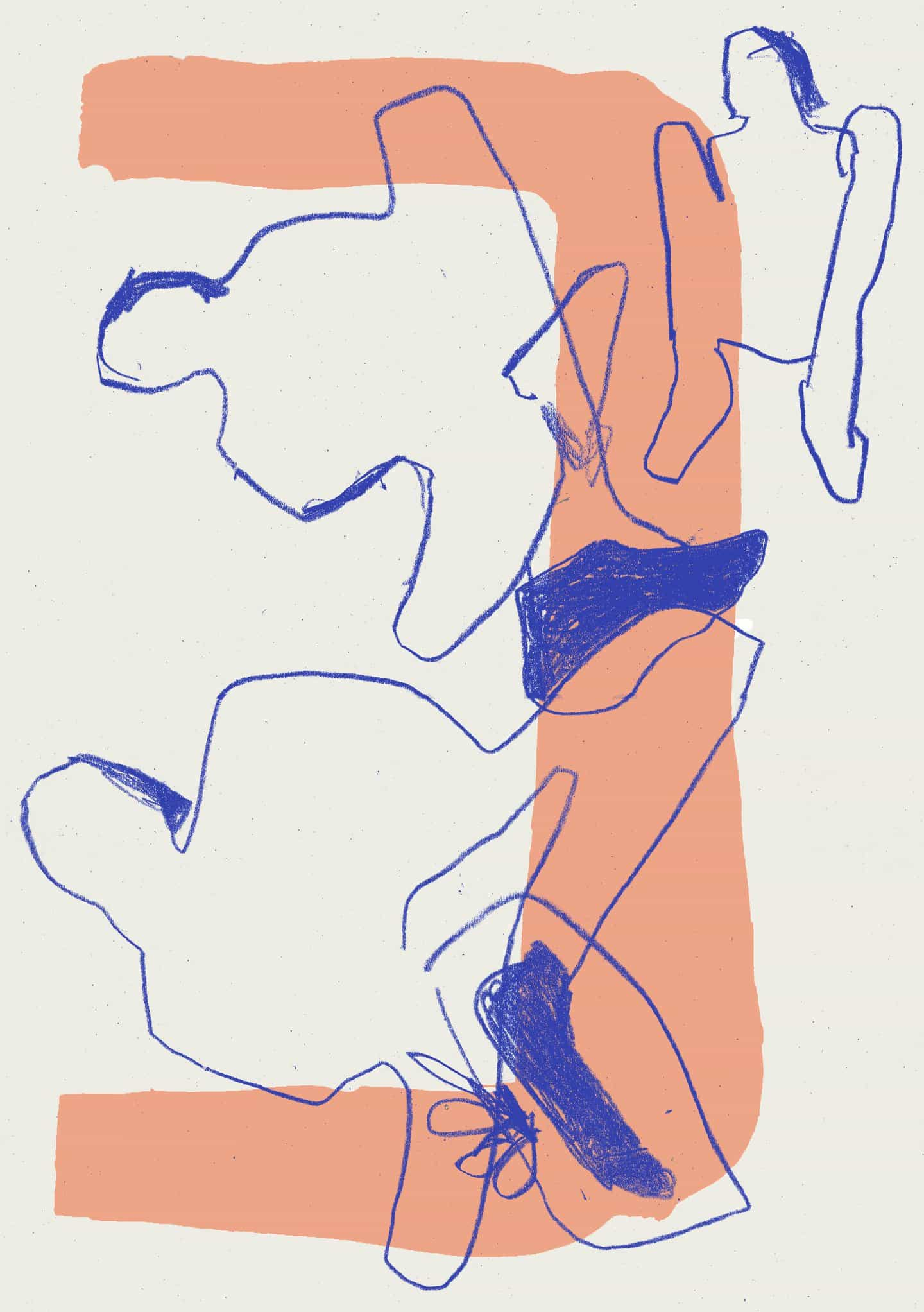 obra abstracta de Luca Shaw se inspira en su propia experiencia