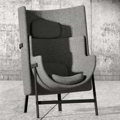 sillón cometa por Nendo para Stellar Works