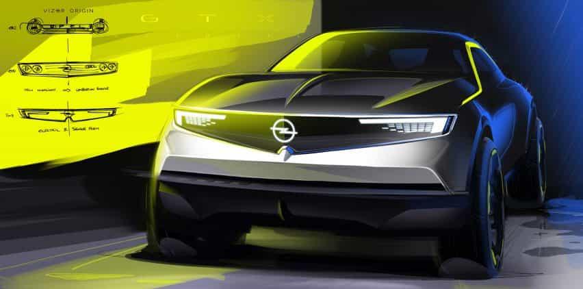 Opel Mokka-e concepto de dibujo