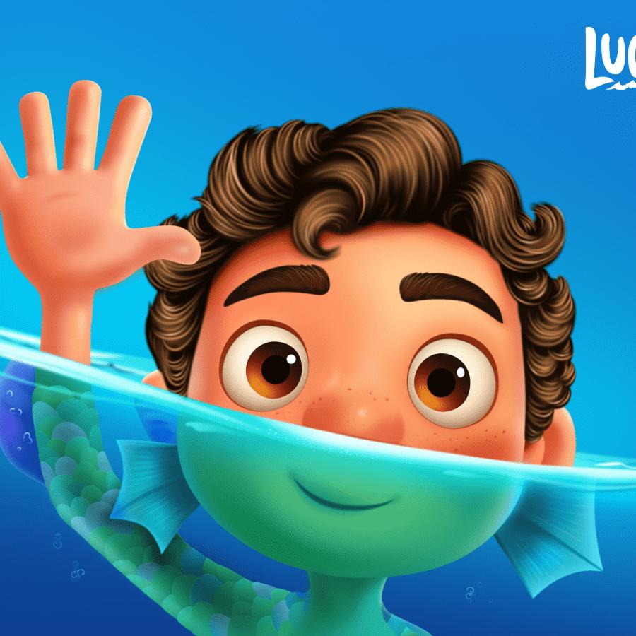 Ilustración de Luca de Pixar hecha en Figma