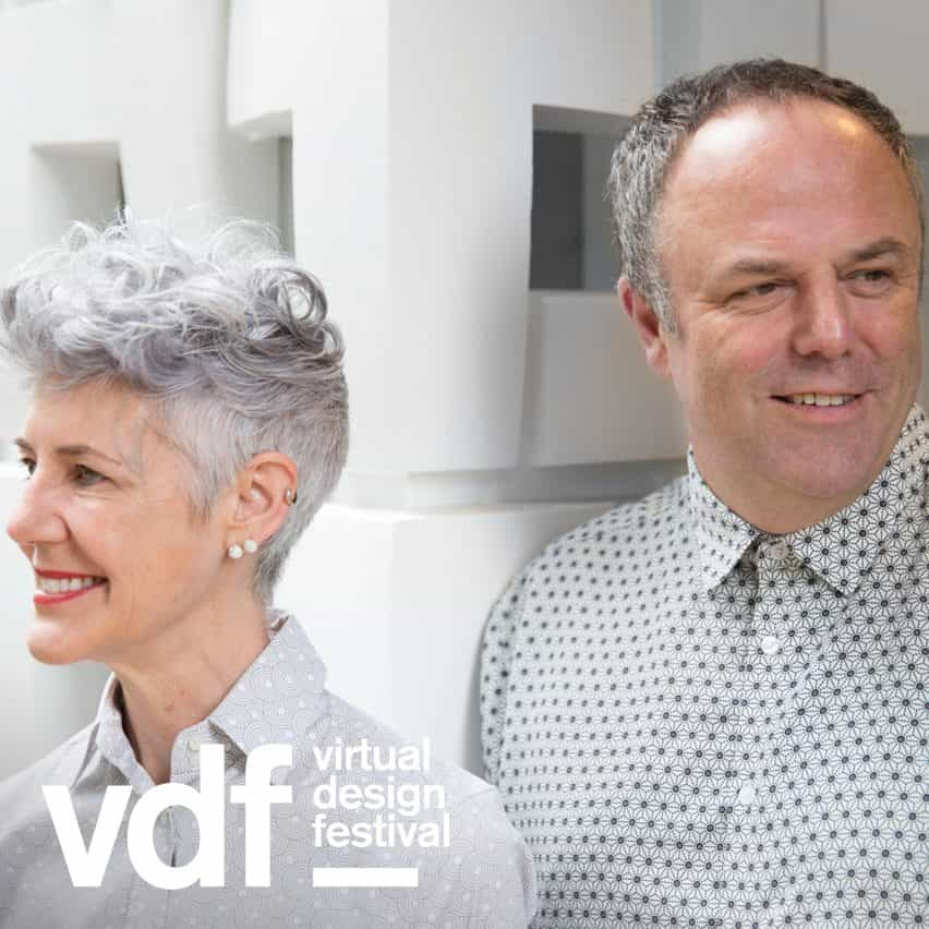 Marcos Dytham y Astrid Klein, de Klein Dytham Arquitectura hablan a Dezeen como parte del Festival de Diseño Virtual
