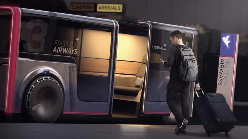 Seymourpowell vanguardias privacidad con un viaje de intercambio en el barrio concepto de coche