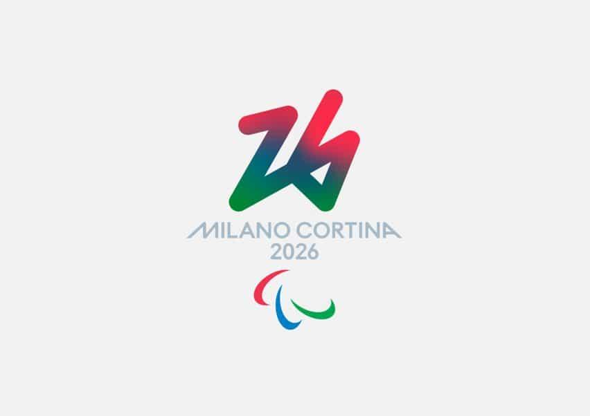El logotipo paralímpico de los Juegos Olímpicos de Invierno de 2026 tiene un color rojo, azul y verde