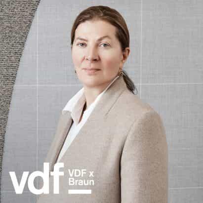 entrevista en vivo con Ilse Crawford como parte de la colaboración de VDF con Braun