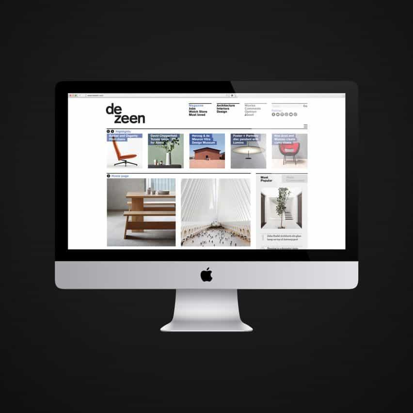 Dezeen se eleva hasta convertirse en uno de los mejores sitios web de 3500 en el mundo