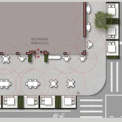 kit de David Rockwell desvela a los restaurantes de construcción en las calles siguientes pandemia