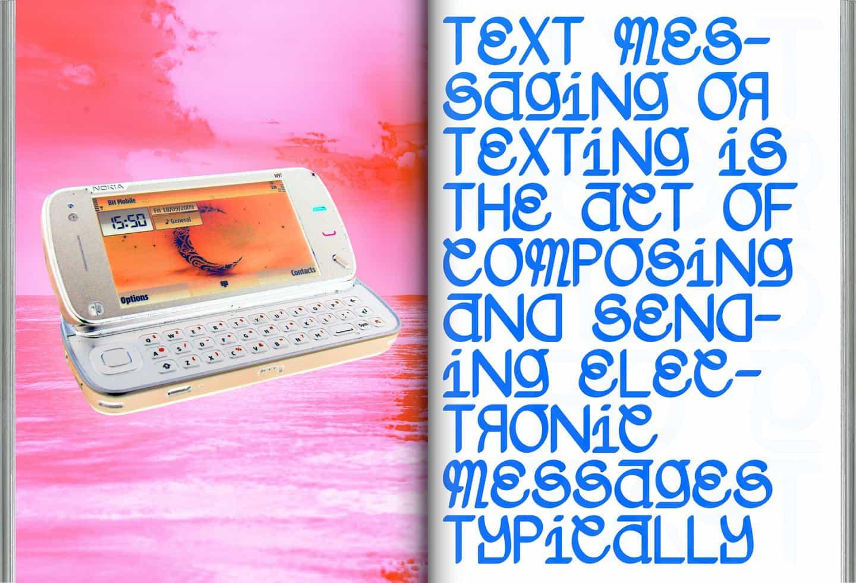 Callum Abbott: Miserable de la fantasía, la mensajería de texto (© Callum Abbott, 2020)