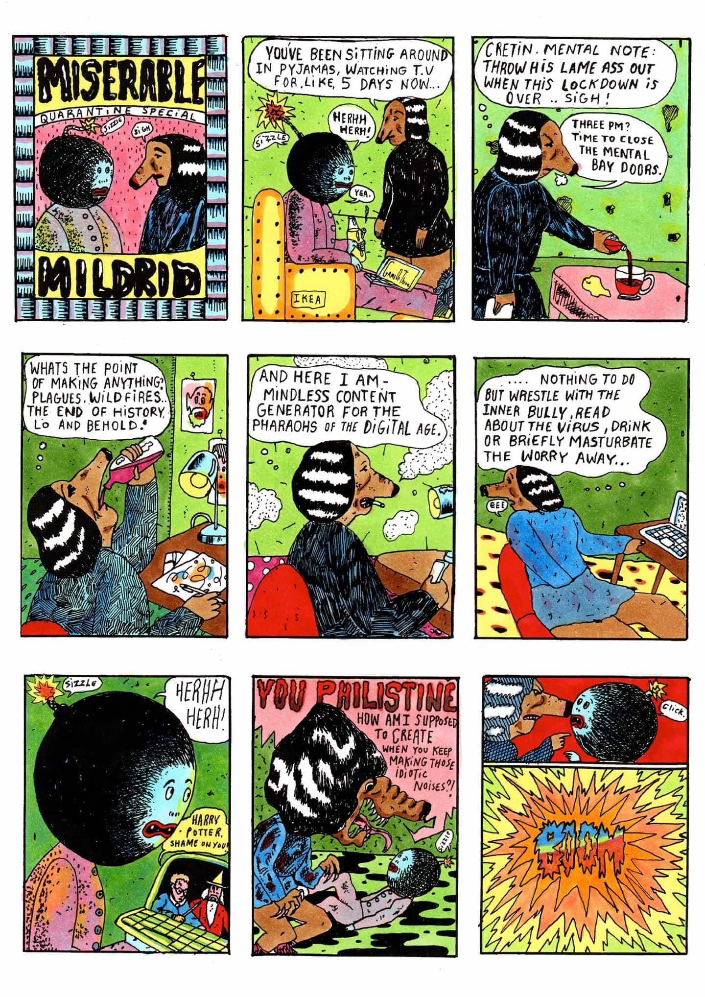 Conoce Miserable Mildred, un artista del milenio descontentos rumiando sobre la (falta de) el amor durante el bloqueo