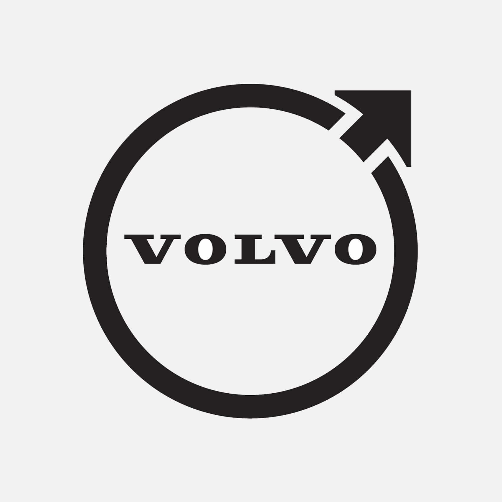 La última marca de automóviles de Volvo en revelar el logotipo plano