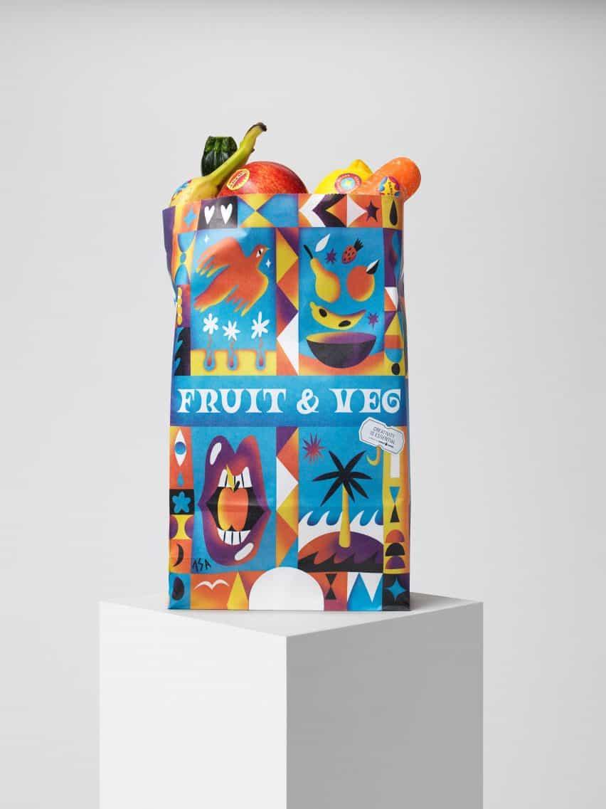 Pegatinas de frutas y verduras de Isabelle Lima