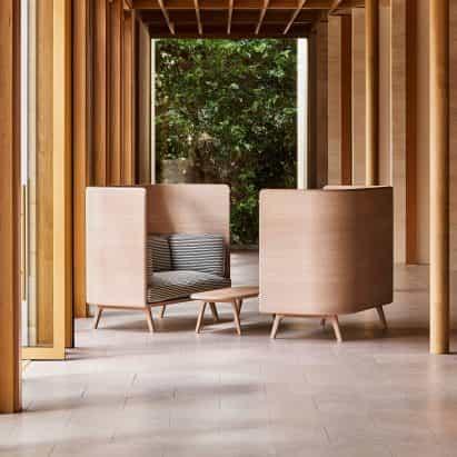 Benchmark focos muebles sostenible que pueda ser devuelto al final de su vida útil