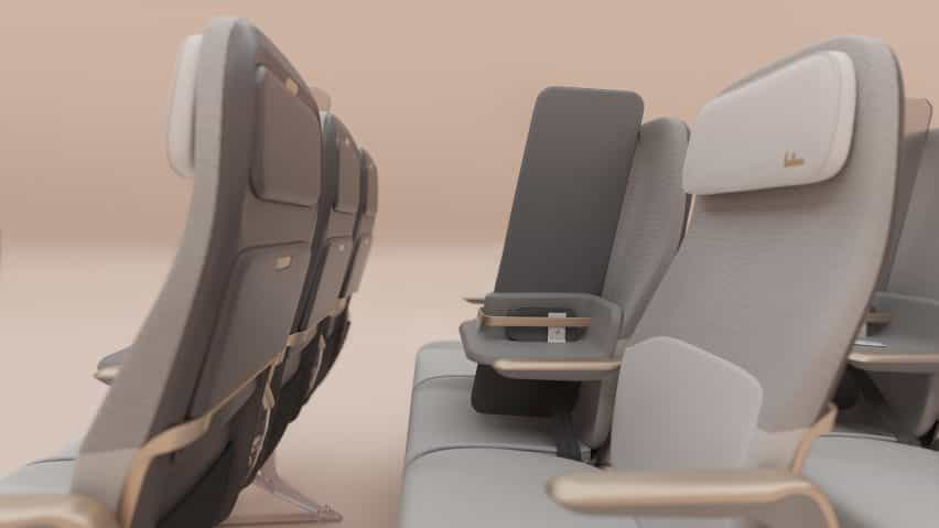 Factorydesign crea la pantalla de aislamiento de pasajeros para el distanciamiento social en los aviones