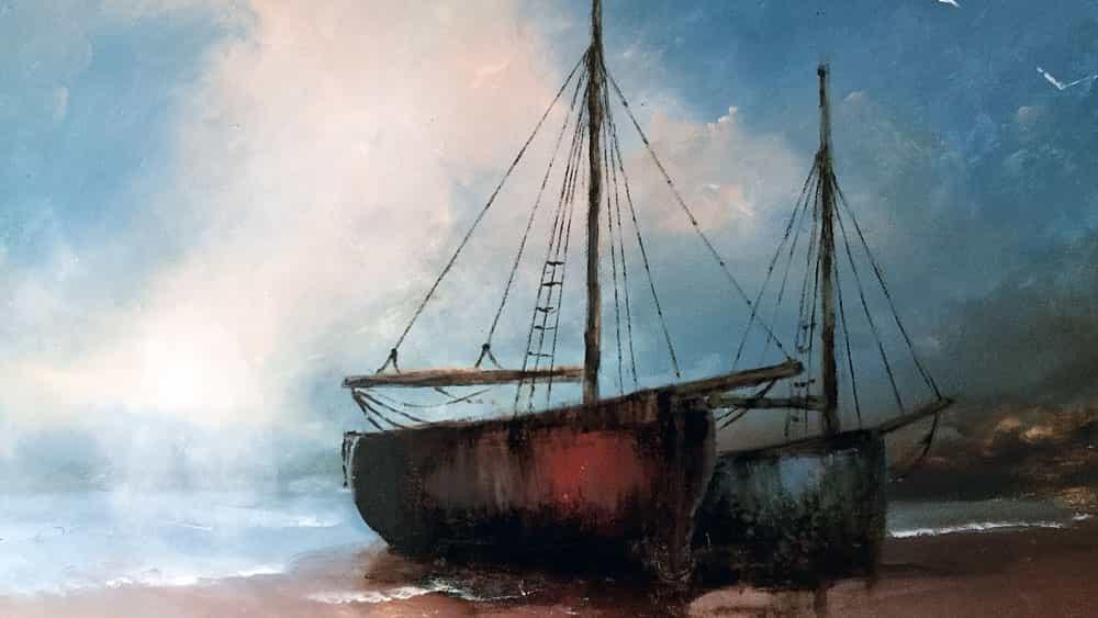 Cómo pintar un paisaje marino con pinturas al óleo